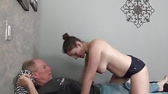 Old man keeps fucking condition.