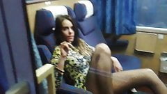 Polish Girl goes wild on trainride