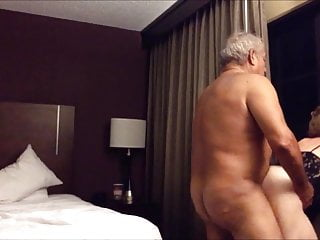 Tylers room porn - Old big ass wife fucked from behind in the hotel room