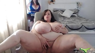 Posh Suzie with natural monster boobs and a plump pussy