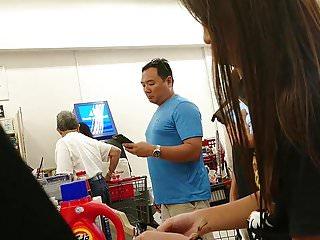 Top teen shopping websites - Asian teen shopping in grey spandex