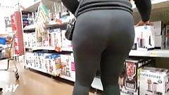 Big Ebony Booty in See through Leggings