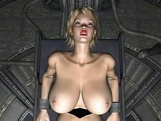 Blonde hentai with big - 3d spatial science fiction blond slave
