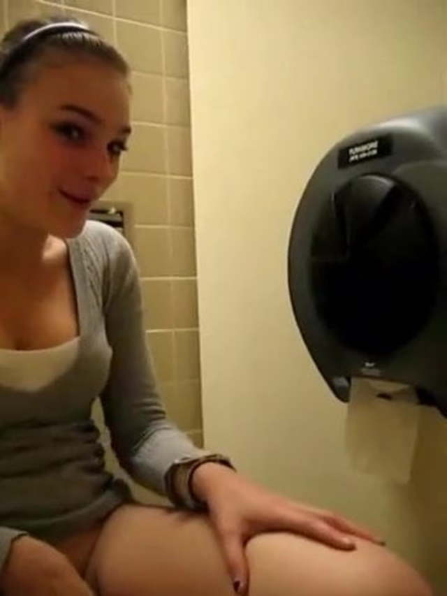 Teen Fingering The Bathroom