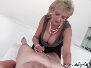 Bondage pics lady sonia Milf lady sonia with first timer massage table handjob