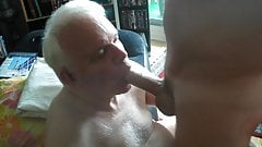 Lovely grandpa sucking cock & rimming ass