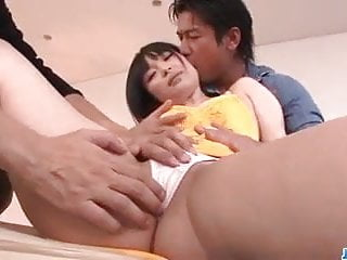 Ass banging her hole Hina maeda gets two hunks to bang her holes