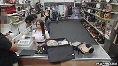 Fucking a hot stewardess in the pawn shop - XXX Pawn