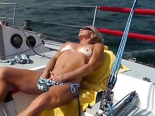 Lactation fetish videos Olga on my yacht for masturbate