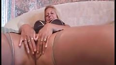 Check My MILF Mature granny MILF in stockings pussy play