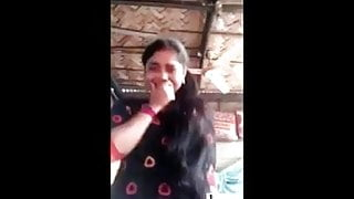 Indian village girl showing her boobs