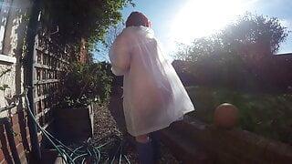 Plastic coat in the Front Garden