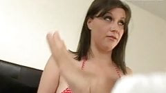 Big Tits jumping and open pussy gets it deep pt 2
