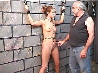 People getting fucked on wall - Nicole in bondage gets spanked against brick wall
