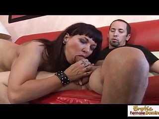 Cum dripping ass mouth Milf is left with her mouth dripping with cum