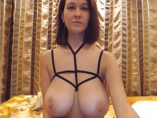 Gay stacks - Slim stacked girl playing with tits