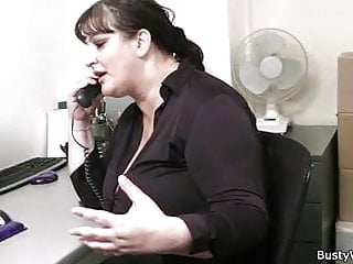 Busty women masturbating - Office sex with busty women at work
