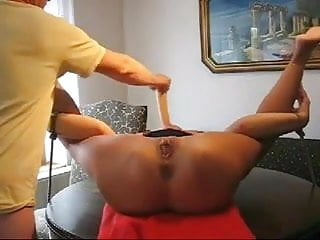 Ass fist her hole - Tied up mature gets her holes toyed and her pussy fisted