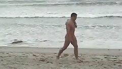 CFNM - Erected cock on the beach