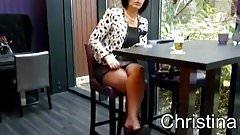 Christina flashing