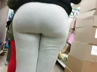 Sexy meaty legs - Gray leggings and a meaty booty part 2