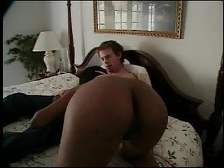 Sexy white chick black tube - Sexy black chick takes a big white dick and a hot cumshot on the bed