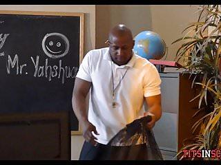 Sexy black teacher video Black teacher sucked off under his desk