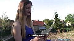 Public Agent Big natural boobs Stella Cox fucked in public