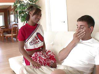 Ass cheerleader fucked getting Ebony cheerleader gets fucked and creamed by older stud
