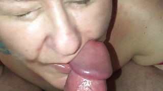 BBW Wagtail007 gets a facial and a mouthful of cum