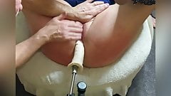 Hotwife tied up and squirting with the fucking machine