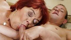 Old mom still loves dick
