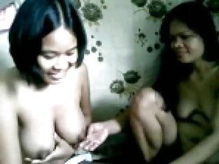 Soccer boobs naked - 2 chubby filipina girls showing their boobs naked on cam