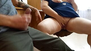 joint masturbation with a fat woman