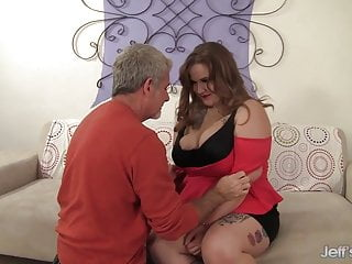 Plumper busty grannies Plumper busty emma spreads her thick legs for grandpa