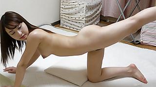 Japanese Girl Nonoka Saki Exercising