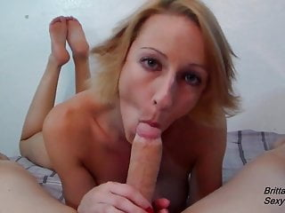 Grannys slow blowjob - Slow blowjob by hot blonde until she gets cumshot in mouth