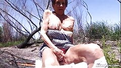 Granny Shirley fucked outdoors