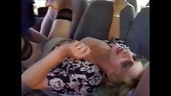 Hairy granny hard fucked in the car