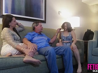 Husband and wife vagina - Babysitter fucked by randy husband and wife