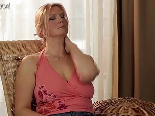 Man getting breast - Big breasted housewife mom getting wet