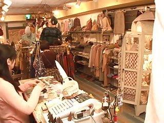 Lesbian upskirt pussy Japanese lesbian shop assistant