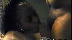 Hot mature ebony milf loves to suck cock