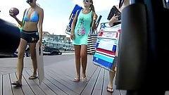 Slightly Bouncing Blue Bikini Boobs