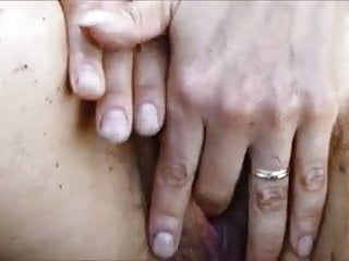 Hairy ape the Ape wife fingering in water