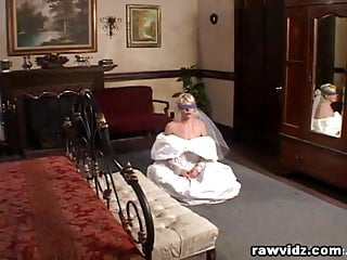 Bride in wedding dress fucking black Newly wed bride gets dominated nasty dp fuck