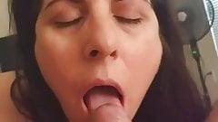 Mom Slut Sucks My Cum Out