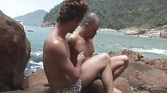 Two Gay Dudes Beach fucking and  sucking