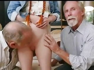 Mature alder men daddies - Old men with young redhair babe