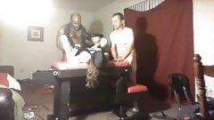 Part3 if Cuckold wimpy husband selling skinny slut wife